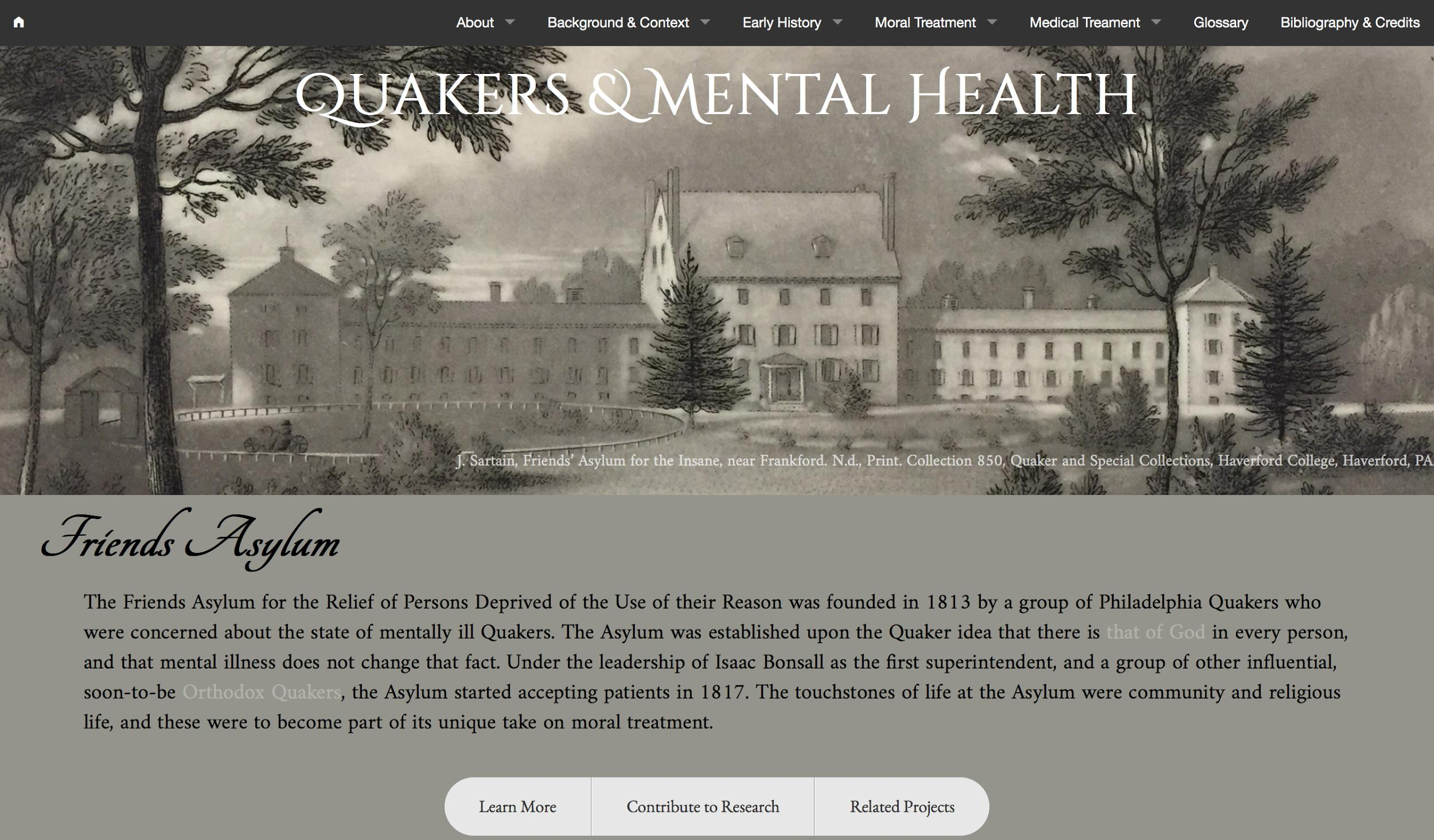 Quakers and Mental Health homepage